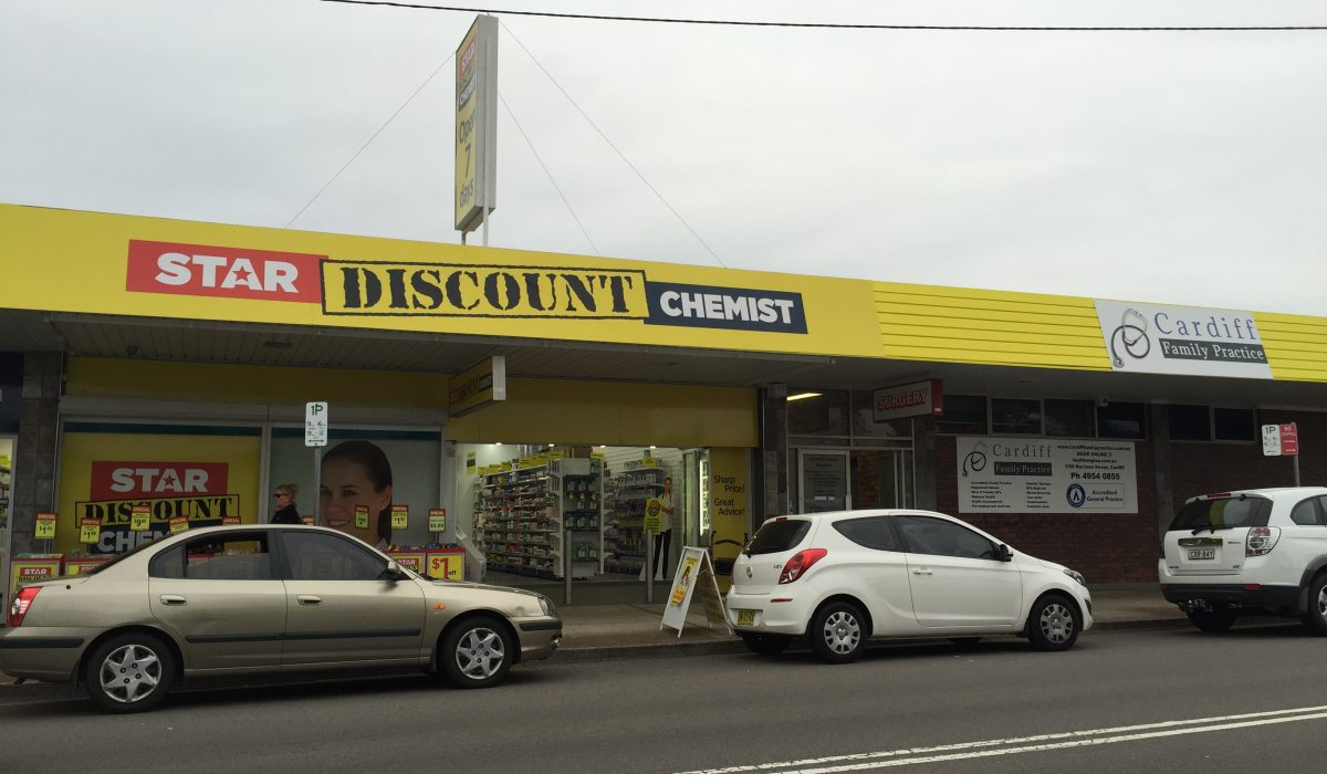 Store front - Star Discount Chemist Cardiff>